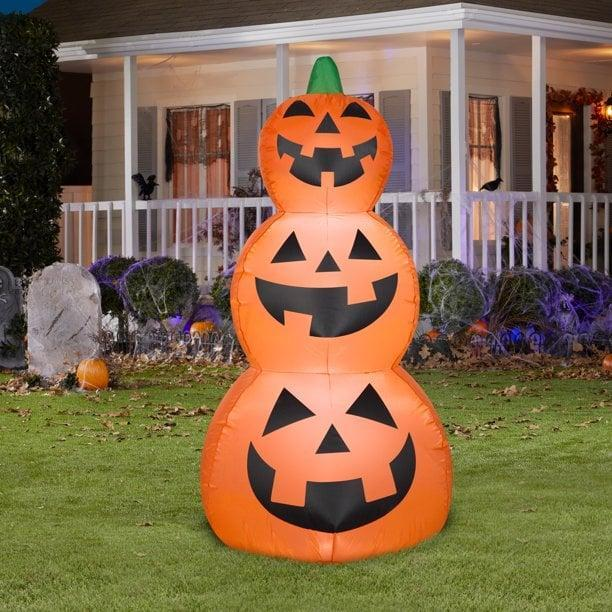 <p>If you want to go the friendly, approachable route, you'll love this <span>Airblown Inflatables Jack Stack</span> ($15). The four-foot inflatable is adorably bubbly and will bring a smile to your fellow trick-or-treaters. </p>