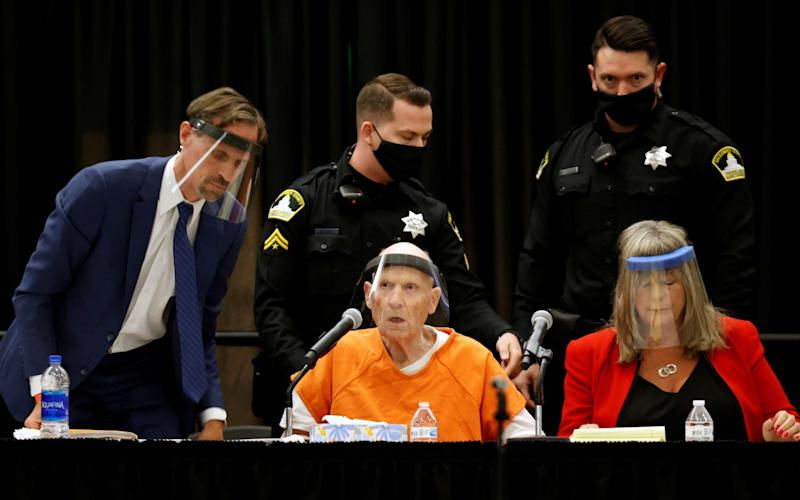 Former police officer Joseph James DeAngelo Jr. attends a hearing on crimes attributed to the Golden State Killer - Reuters