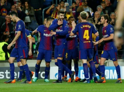 <p>Two own-goals help Barca take charge of quarter-final against Roma</p>