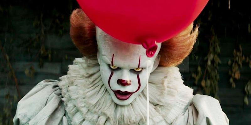 Bill Skarsgård as Pennywise the clown in the new film 'It'