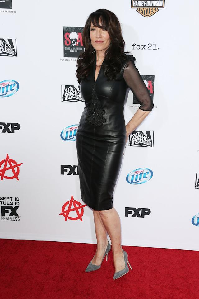 """HOLLYWOOD, CA - SEPTEMBER 07: Actress Katey Sagal attends the Premiere of FX's """"Sons of Anarchy"""" Season 6 at the Dolby Theatre on September 7, 2013 in Hollywood, California. (Photo by Frederick M. Brown/Getty Images)"""