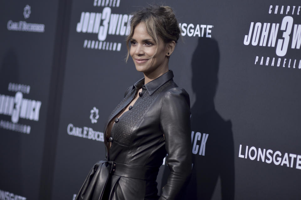 """Halle Berry attends a special screening of """"John Wick: Chapter 3 - Parabellum"""" at the TCL Chinese Theatre on Wednesday, May 15, 2019, in Los Angeles. (Photo by Richard Shotwell/Invision/AP)"""