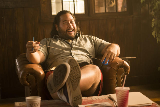 Cooper Andrews as Yo-Yo in AMC's <em>Halt and Catch Fire</em>. (Photo: Tina Rowden/AMC)