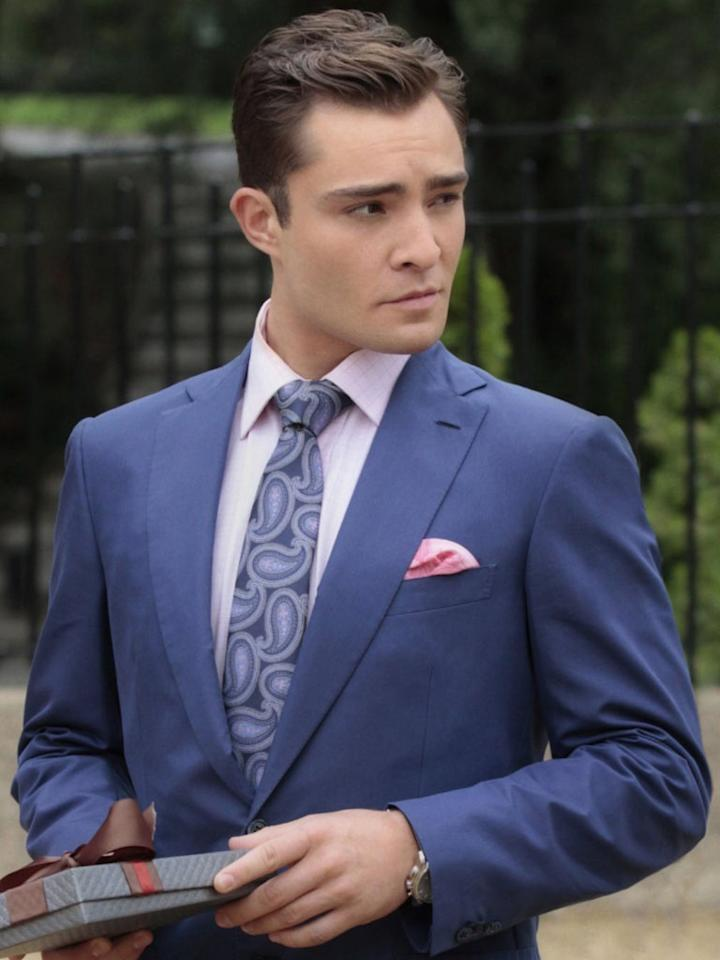 "<b>GREATEST ACCESSORY:<br>Chuck's pocket squares</b><br><br>A man in a fitted suit is sexy. A man who can accessorize? Irresistible. Chuck Bass has always been the pinnacle of male style on ""Gossip Girl,"" with his designer suits, bow ties, and impeccable hair. But those pocket squares -- complementary but not too matchy, bold but not too showy -- make us weak in the knees. Don Draper's got competition for the title of most dapper gentleman on television."