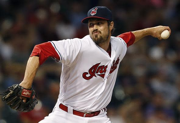 Since joining the Indians on Aug. 1, Andrew Miller has excelled in his role an Indians bullpen weapon. (AP)