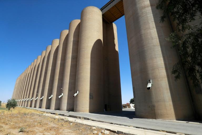 Depleted water levels along the Euphrates due to lower rainfalls have also threatened water supplies for irrigation, and grain silos in Syria's northeastern city of Hasakeh are already running low (AFP/Delil SOULEIMAN)