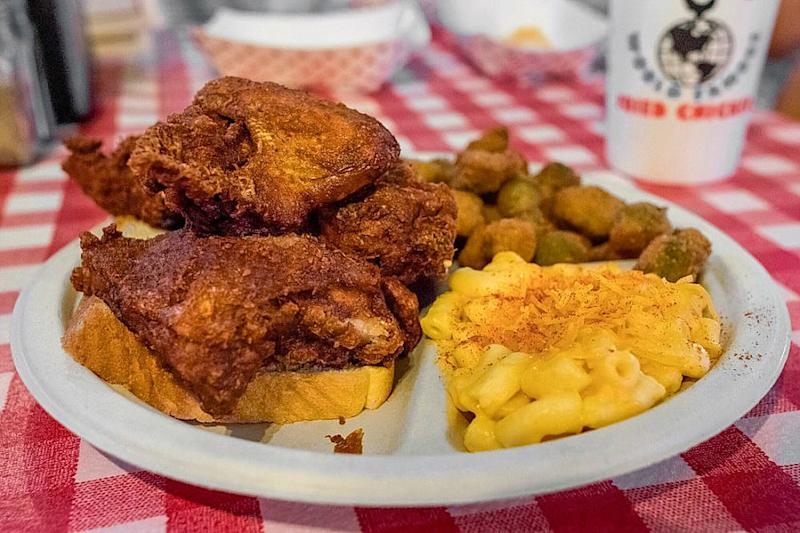 Gus's World Famous Fried Chicken.