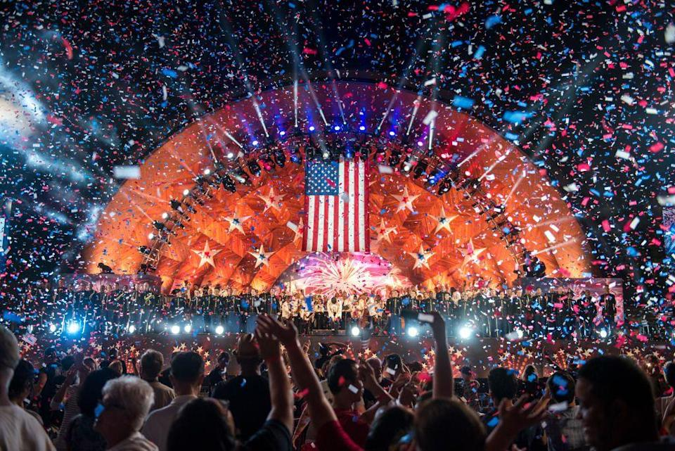 """<p><strong>Boston, M<strong>a<strong><strong>s<strong><strong>s</strong></strong></strong></strong>achu<strong><strong>s</strong></strong>etts</strong></strong><br><br>Celebrate the 4th of July in one of America's oldest cities at the <a href=""""https://www.fireworkscalendar.com/boston/#fourth-of-july"""" rel=""""nofollow noopener"""" target=""""_blank"""" data-ylk=""""slk:Boston Pops Fireworks Spectacular"""" class=""""link rapid-noclick-resp"""">Boston Pops Fireworks Spectacular</a> on the Esplanade in Boston. The show dazzles audiences with a musical performance each year.<br></p>"""