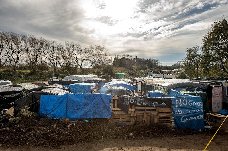 "A picture taken on October 30, 2015, shows a general view of tents and makeshift shelters at the ""Jungle"" migrant camp, in Calais"
