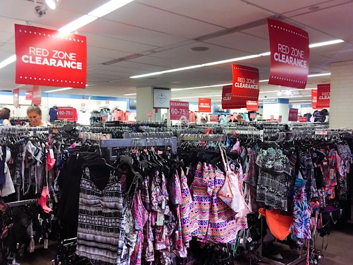 "The clearance section in a JC Penney store. <p class=""copyright"">Business Insider/Jessica Tyler</p>"