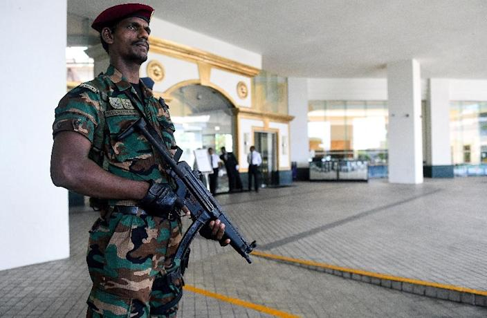 Sri Lanka remains on high alert after bombers targeted three hotels and churches in attacks claimed by the Islamic State group (AFP Photo/ISHARA S. KODIKARA)