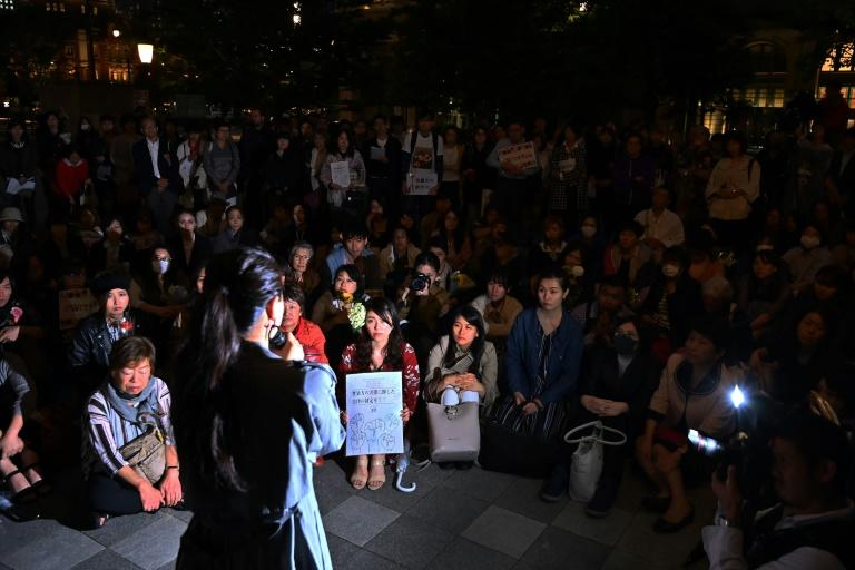 While the global #MeToo movement against sexual abuse has stormed through everything from Hollywood to the Italian opera, it has struggled to take off in Japan (AFP Photo/CHARLY TRIBALLEAU)