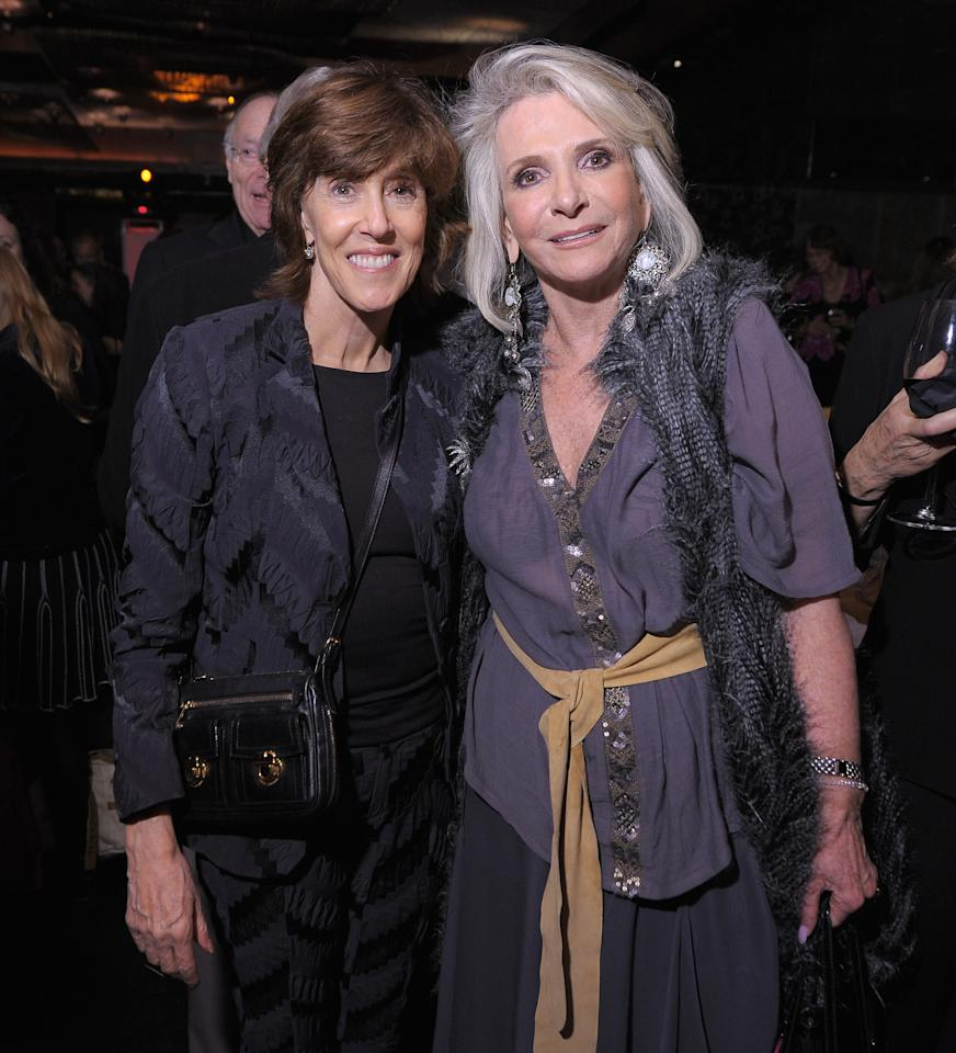 NEW YORK, NY - OCTOBER 13:  Award recipient Director Nora Ephron (L) and HBO Documentary Films President Sheila Nevins attend the 2011 Directors Guild Of America Honors after party at Nobu 57 on October 13, 2011 in New York City.  (Photo by Michael Loccisano/Getty Images)