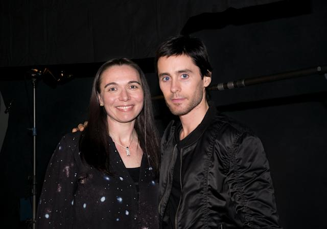 Gifford with Jared Leto, director of <em>Beyond the Horizon.</em> (Photo: Ryot)