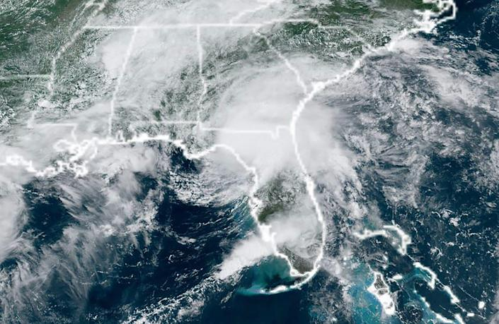 Tropical Storm Elsa made landfall in Florida on July 7, 2021, lashing the Gulf Coast of the southern US state with strong winds and heavy rain, the National Hurricane Center said.