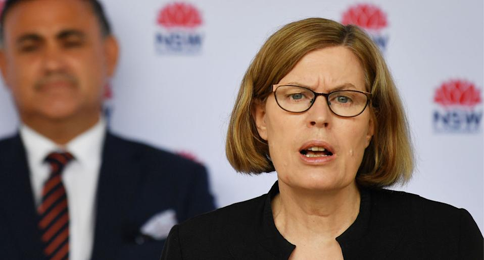 Dr Kerry Chant has pleaded again for western Sydney residents to come forward for testing. Source: AAP