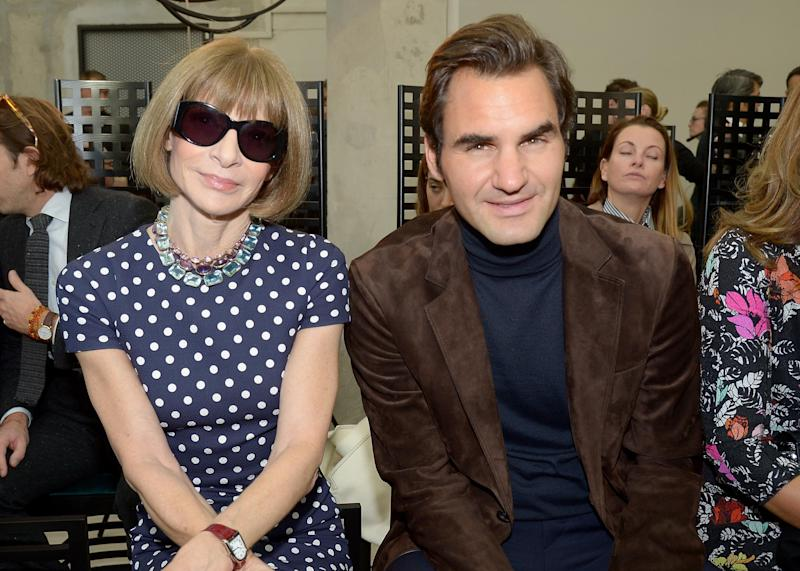 Anna Wintour Roger Federer - Dominique Charriau /Wireimage