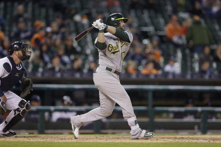 Yonder Alonso is the surprising leader at first base in the AL All-Star voting. (AP Photo)