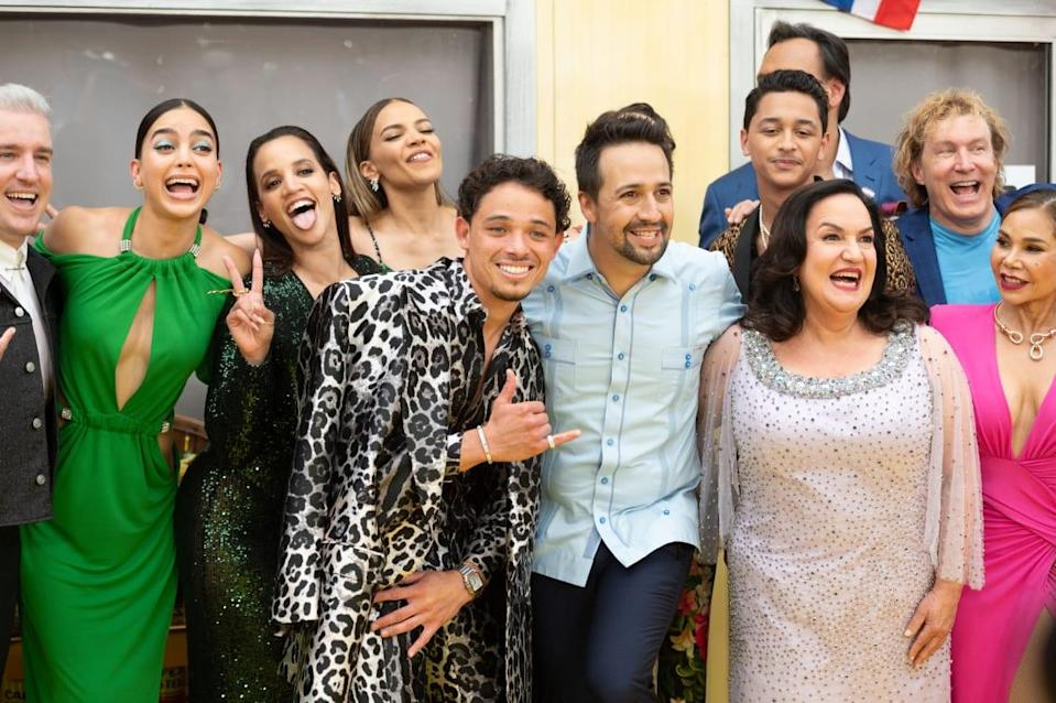 """<div class=""""inline-image__caption""""><p>Melissa Barrera, Dascha Polanco, Anthony Ramos, Leslie Grace, Lin-Manuel Miranda and Daphne Rubin-Vega attend the opening night premiere of <em>In The Heights </em>during 2021 Tribeca Festival at United Palace Theater on June 09, 2021, in New York City. </p></div> <div class=""""inline-image__credit"""">Noam Galai/Getty</div>"""
