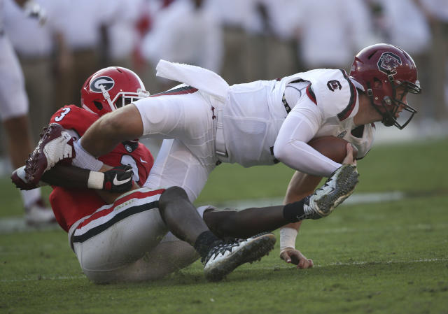 Everybody else is looking up at Georgia in the SEC East. (AP Photo/John Bazemore)