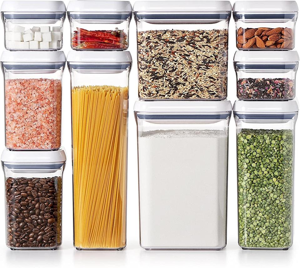 """<p>I love this <a href=""""https://www.popsugar.com/buy/OXO-Good-Grips-10-Piece-Airtight-Food-Storage-569805?p_name=OXO%20Good%20Grips%2010-Piece%20Airtight%20Food%20Storage&retailer=amazon.com&pid=569805&price=100&evar1=casa%3Aus&evar9=47434945&evar98=https%3A%2F%2Fwww.popsugar.com%2Fhome%2Fphoto-gallery%2F47434945%2Fimage%2F47434994%2FOXO-Good-Grips-10-Piece-Airtight-Food-Storage&list1=editors%20pick%2Corganization%2Ckitchens%2Cproduct%20reviews%2Chome%20organization%2Chome%20shopping&prop13=mobile&pdata=1"""" class=""""link rapid-noclick-resp"""" rel=""""nofollow noopener"""" target=""""_blank"""" data-ylk=""""slk:OXO Good Grips 10-Piece Airtight Food Storage"""">OXO Good Grips 10-Piece Airtight Food Storage</a> ($100) set, because it has smaller options for things like nuts and chocolate chips.</p>"""