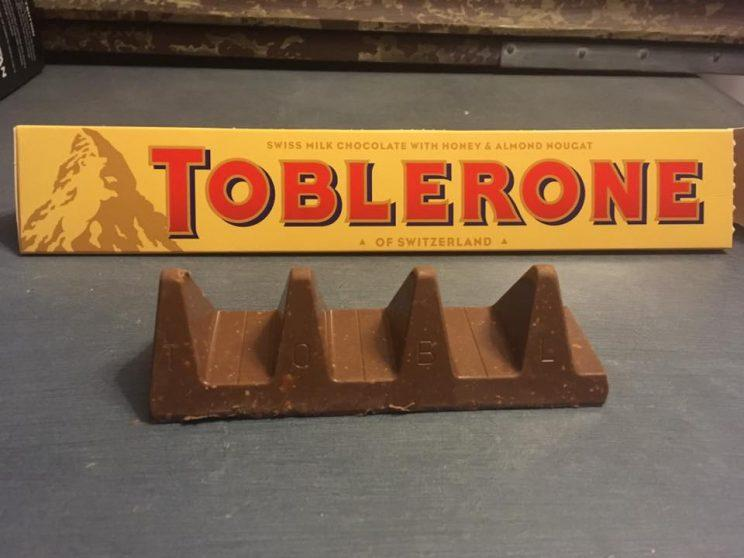 The newly resized Toblerone - not very inspiring