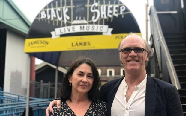 Don Maher, with Black Sheep coowner Valerie Hewitt, says the bar has already booked entertainment.