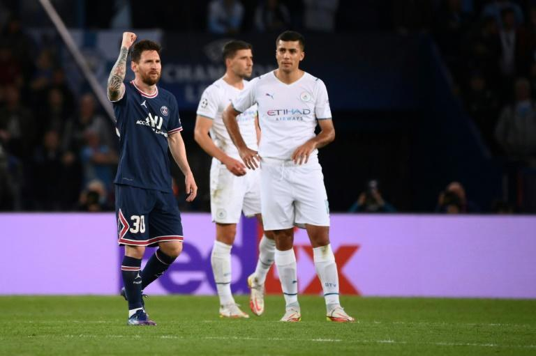 Lionel Messi scored his first PSG goal in their 2-0 win over Manchester City in the Champions League (AFP/FRANCK FIFE)