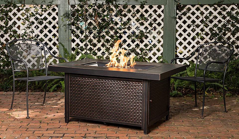 Amazon's Labor Deal deals are red hot! Catch this fire pit table for just $599 (down from $1,650). (Photo: Amazon)