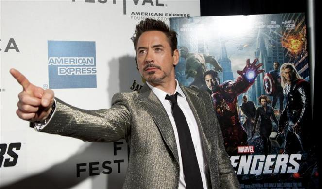 """1. Robert Downey Jr. is the top-grossing actor of the year, with $1.5 billion, according to Forbes.CAPTION: Robert Downey Jr. poses as he arrives at the screening of the film """"Marvel's The Avengers"""" for the closing night of the 2012 Tribeca Film Festival in New York April 28, 2012"""