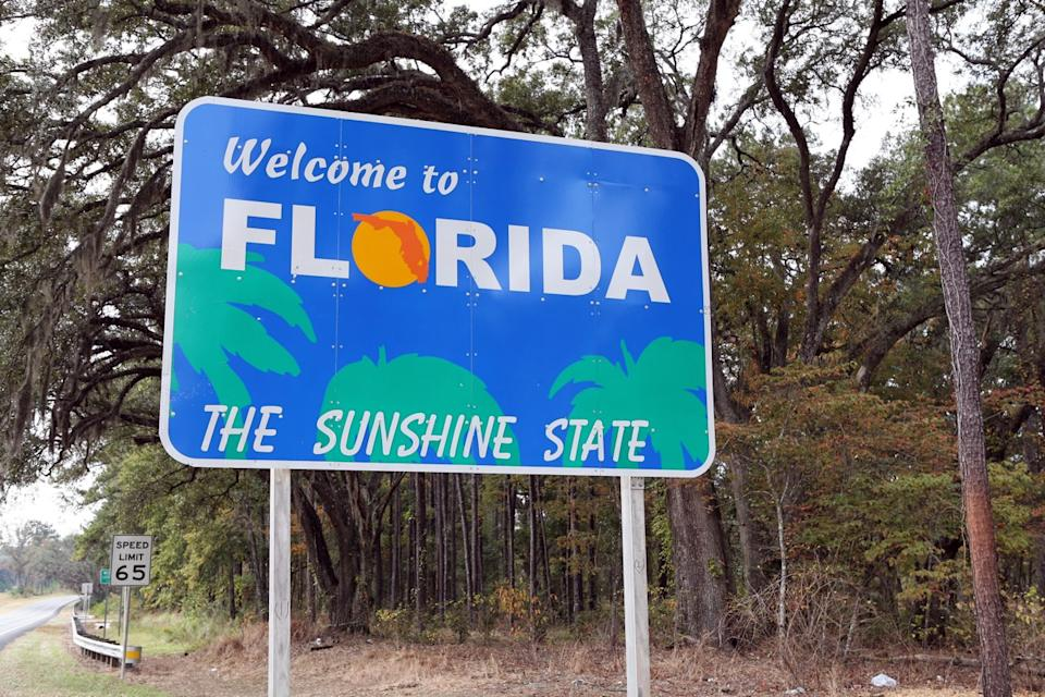 florida state welcome sign