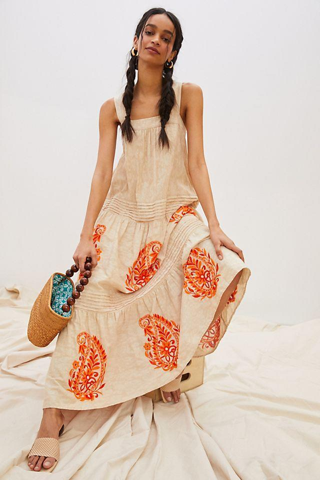 """<br><br><strong>Anthropologie</strong> Felicity Embroidered Maxi Dress, $, available at <a href=""""https://go.skimresources.com/?id=30283X879131&url=https%3A%2F%2Fwww.anthropologie.com%2Fshop%2Ffelicity-embroidered-maxi-dress"""" rel=""""nofollow noopener"""" target=""""_blank"""" data-ylk=""""slk:Anthropologie"""" class=""""link rapid-noclick-resp"""">Anthropologie</a>"""