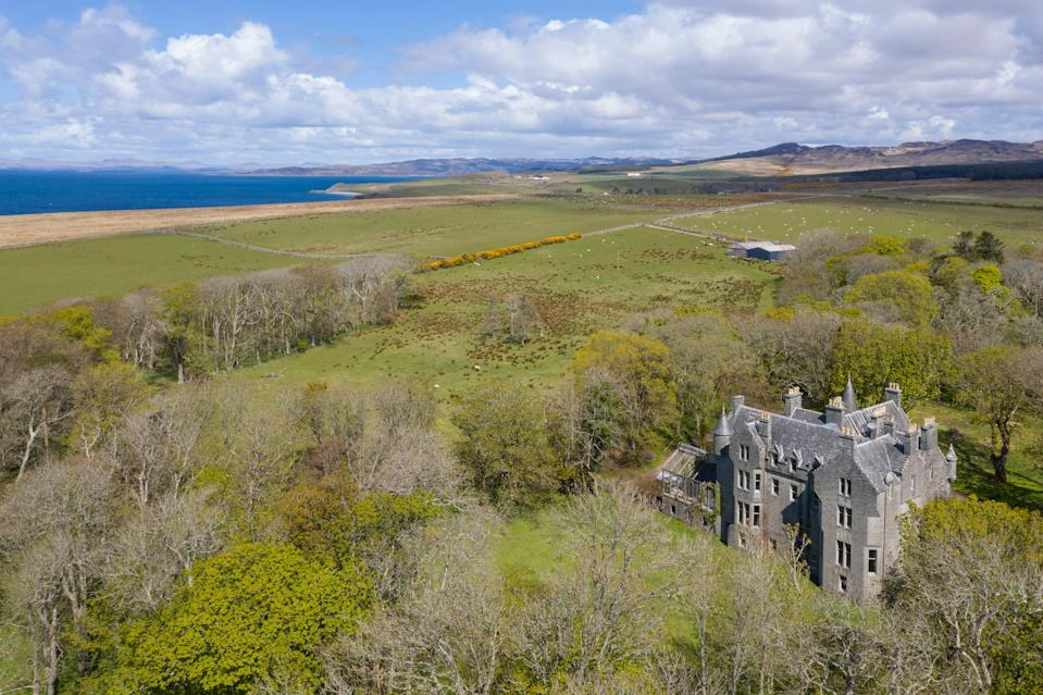 The vast 10-bedroom castle sits in 21 acres near Kilberry Bay (Knight Frank)