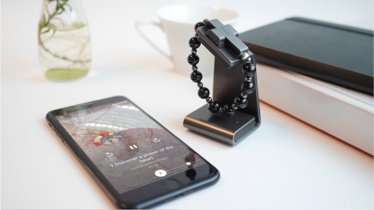 Pictured: Click to Pray wearable rosary device. Image: Click To Pray