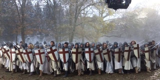 <p>The Templars ready for battle. We had roughly 250 stunt men fighting every day to bring this awesome @knightfallshow battle to life. They were unbelievable. — @tom_cullen #Knightfall #HISTORY<br>(Photo: Instagram) </p>