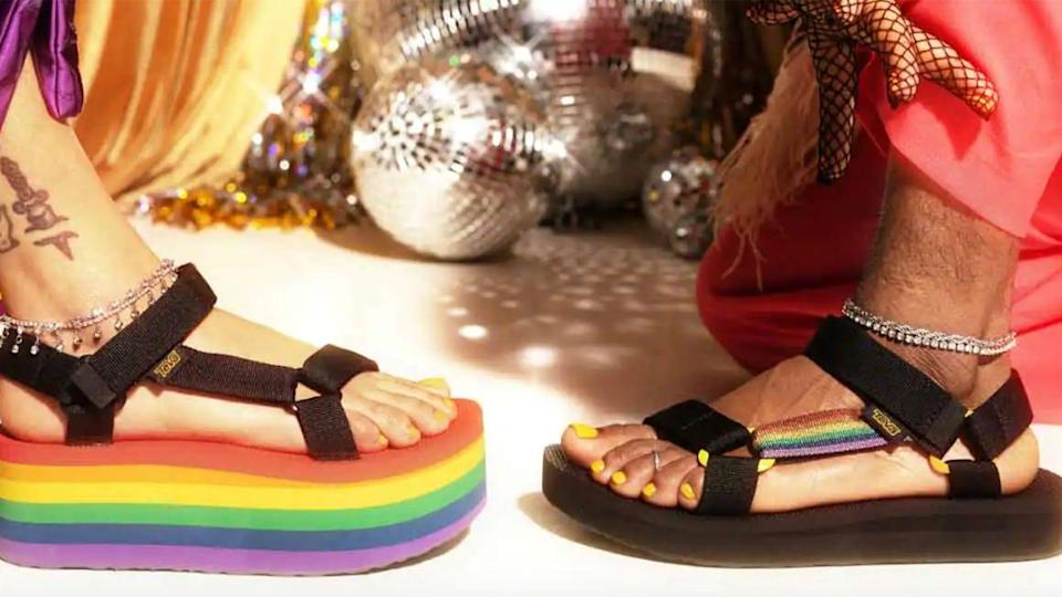 Teva's offering a variety of gender-inclusive footwear and accessories for Pride 2021.