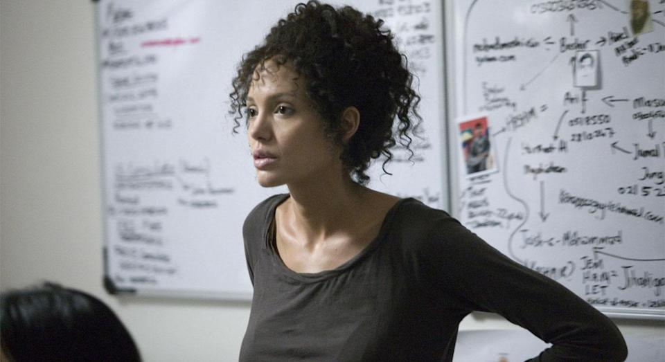 Angelina Jolie as Mariane Pearl in Michael Winterbottom's 'A Mighty Heart' (Paramount Vantage)