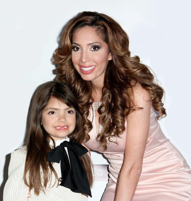 Reality star Farrah Abraham defends her decision to allow her 7-year-old daughter, Sophia, to wear makeup to school. (Photo: Getty Images)