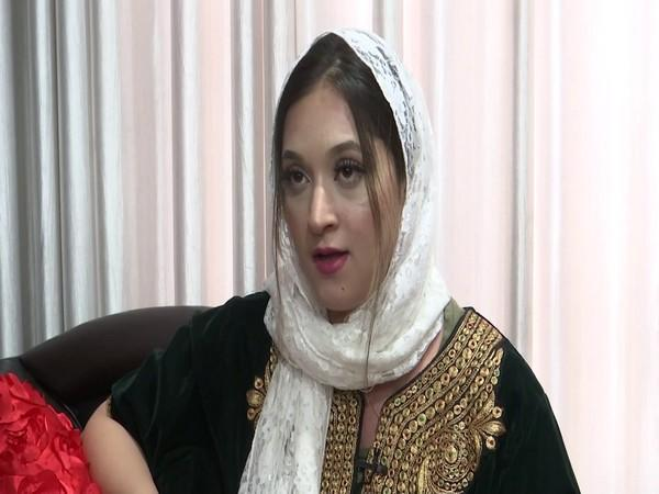 Hebba, owner of the bridal fashion studio 'Makeup and Slay', in Jammu and Kashmir in conversation with ANI.