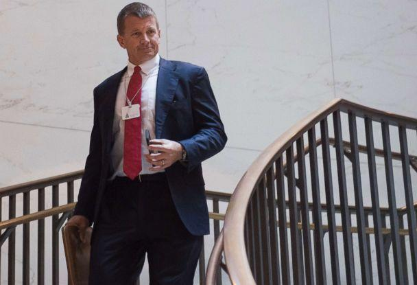 PHOTO: Erik Prince, former Navy Seal and founder of private military contractor Blackwater USA, arrives to testify during a closed-door House Select Intelligence Committee hearing on Capitol Hill in Washington, D.C., Nov. 30, 2017. (Saul Loeb/AFP/Getty Images, FILE)