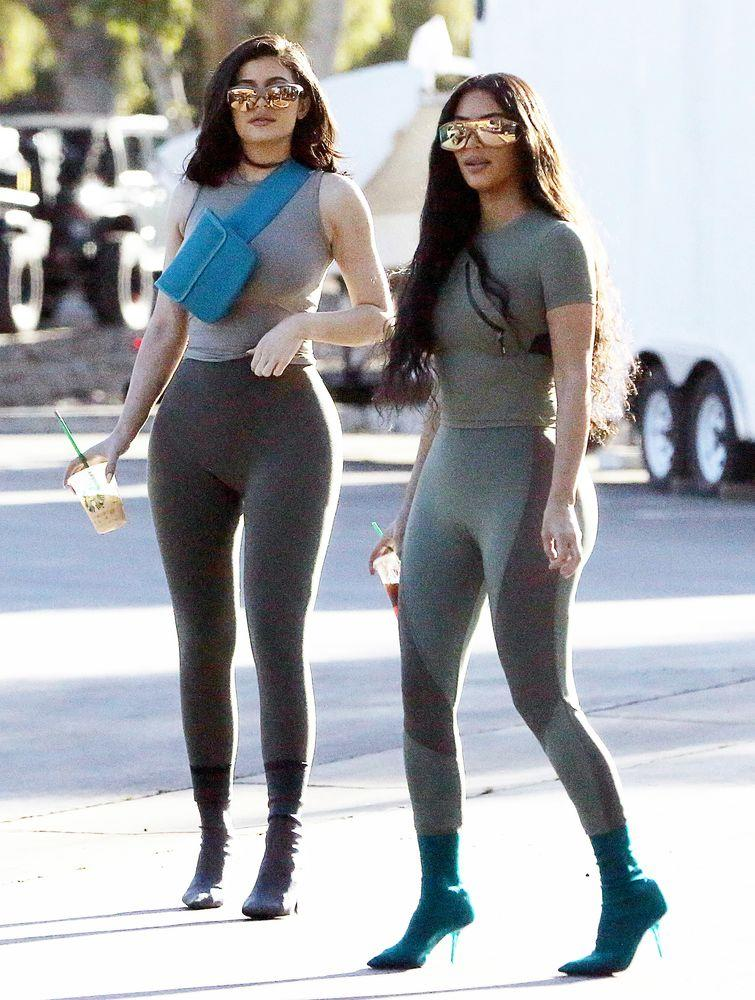 Kim  And Kylie  Have A Long History Of Twinning Not Only Do The Half Sisters Look Alike But Theyve Been Dressing Similarly For Years
