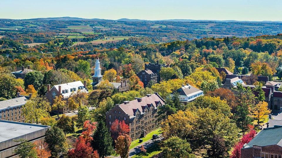 <p><strong>Established in 1793 </strong></p><p><strong>Location: Clinton, New York<br></strong></p><p>Hamilton was first called Hamilton-Oneida Academy when it was established in 1793, and became Hamilton College in 1812 when it was named in honor of Treasury Secretary Alexander Hamilton. The school didn't allow female students until 1978, when it merged with the all-women's Kirkland College. </p>