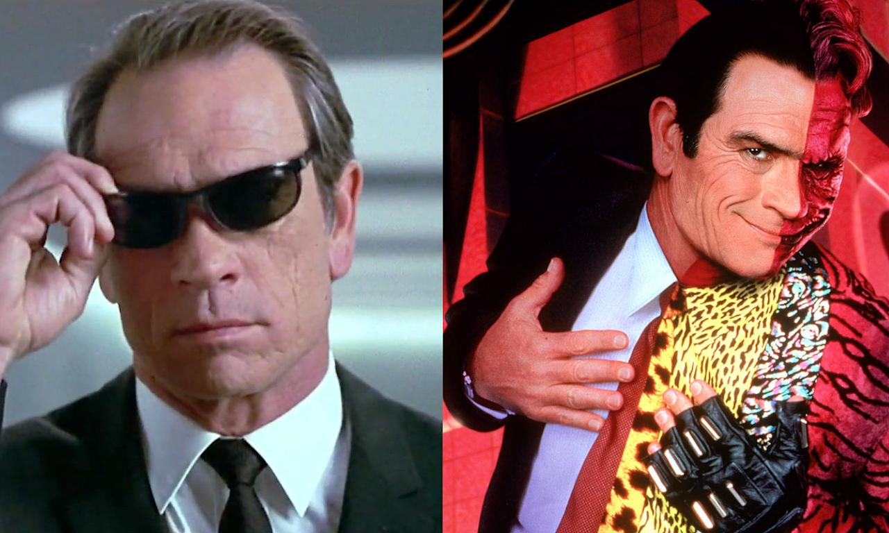 <p>Tommy Lee Jones famously played Harvey Dent/Two-Face in <em>Batman Forever</em> before Aaron Eckhart did in The Dark Knight but he also appeared as Agent K in the <em>Men In Black</em> movies. </p>