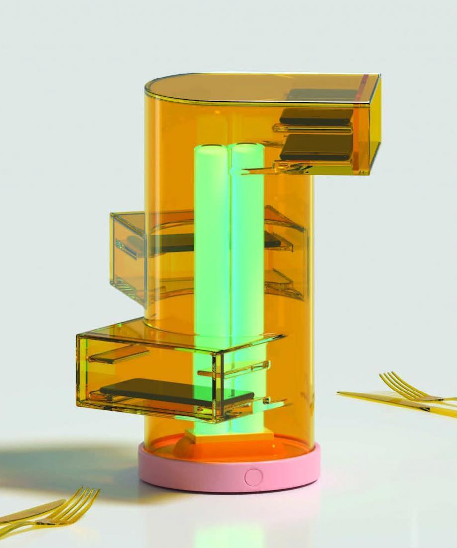 The Centrepeace multi-tiered phone sanitizer, one of eight winning designs in Bompas & Parr's new