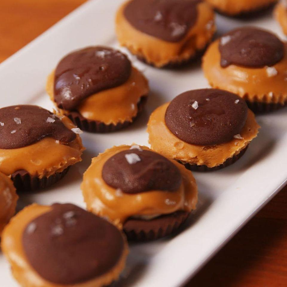 """<p>Who knew chocolate and peanut butter could get any better?</p><p>Get the <a href=""""https://www.delish.com/uk/cooking/recipes/a28783831/chocolate-peanut-butter-banana-bites-recipe/"""" rel=""""nofollow noopener"""" target=""""_blank"""" data-ylk=""""slk:Chocolate, Peanut Butter & Banana Bites"""" class=""""link rapid-noclick-resp"""">Chocolate, Peanut Butter & Banana Bites</a> recipe. </p>"""