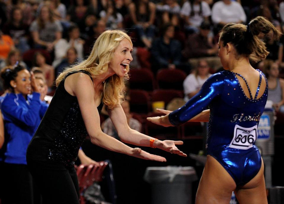 Former Florida coach Rhonda Faehn is one of the top candidates to replace Marta Karolyi. (Getty)