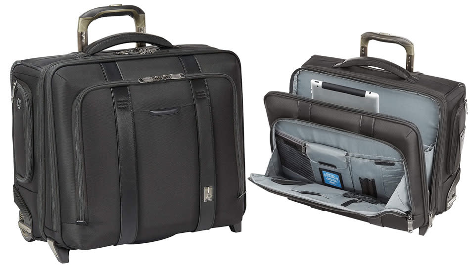 The Travelpro Crew Executive Choice 2-Wheeled Brief Bag is an incredible 64 percent off! (Photo: Amazon)