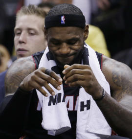 LeBron James and the Heat lost the NBA Finals in five games to the Spurs. (AP)