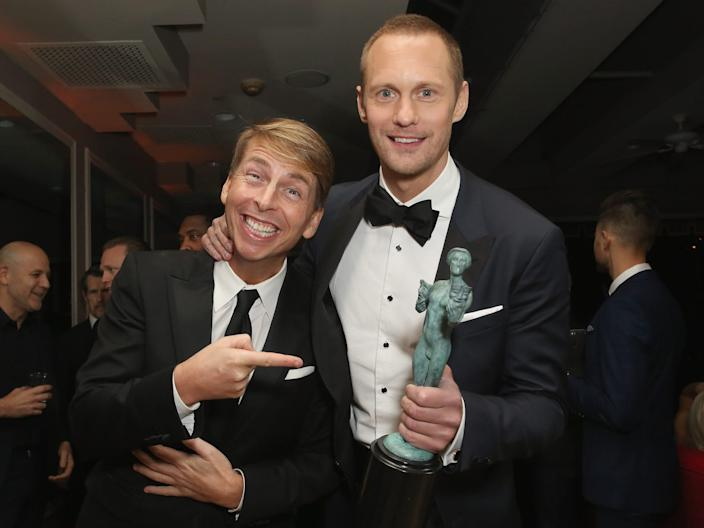 Actors Jack McBrayer and Alexander Skarsgard SAG Awards 2018