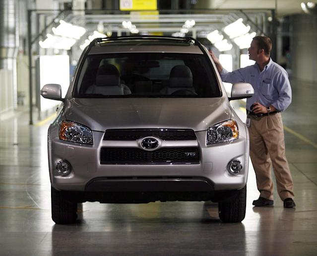 <p>No. 5: Woodstock, Ont.<br>Proportion of work with the potential to be automated: 50 per cent<br>Population: 30,470<br>An employee looks over a Rav 4 vehicle at the end of the assembly line, at the opening of the Toyota Motor Manuafacturing Canada, Inc. new automotive plant in Woodstock, Ont., Thursday December 4, 2008. (THE CANADIAN PRESS/ Dave Chidley) </p>